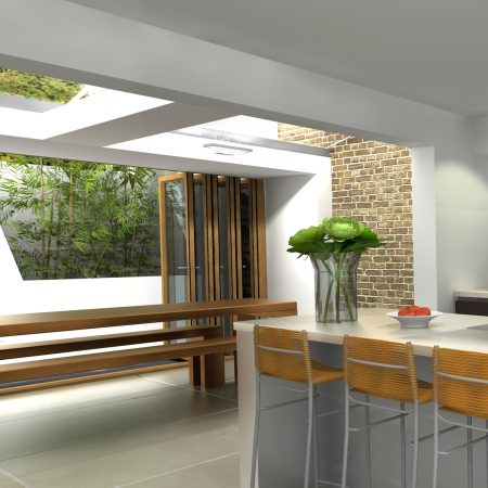 Kitchen with bi-fold doors - Kitchen created in Virtual Worlds