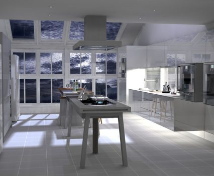 Kitchen in moonlight